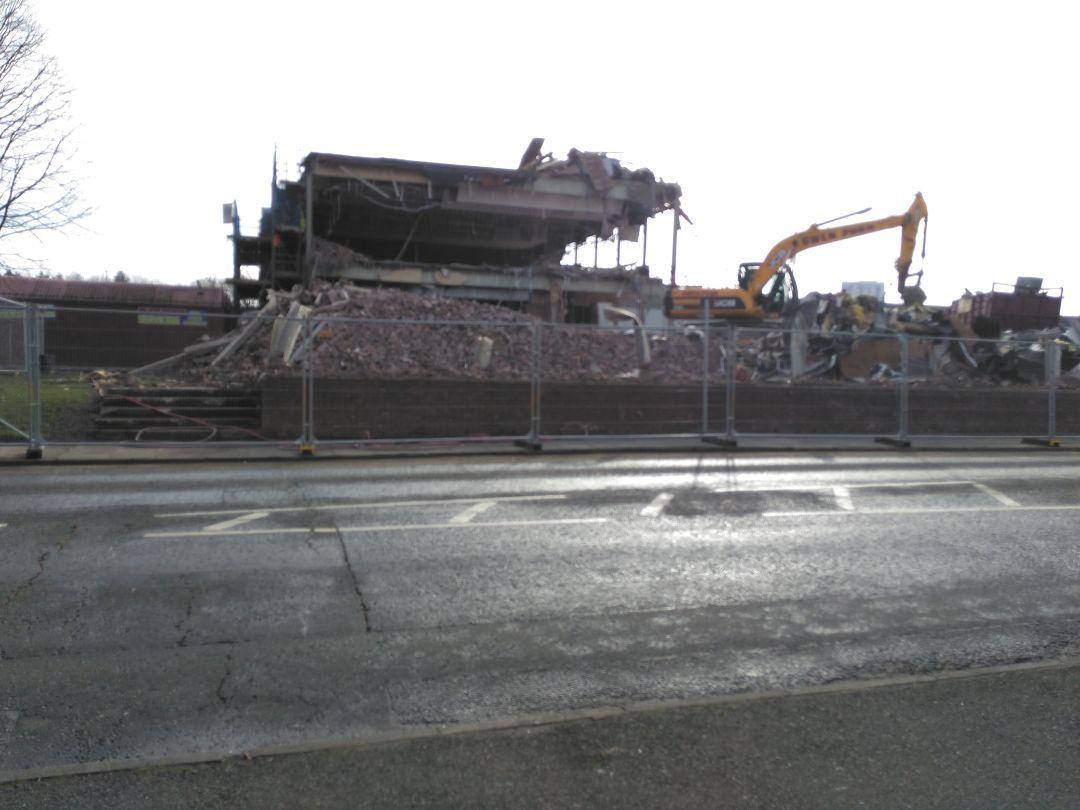Demolition underway