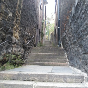 The Long Stairs looking up