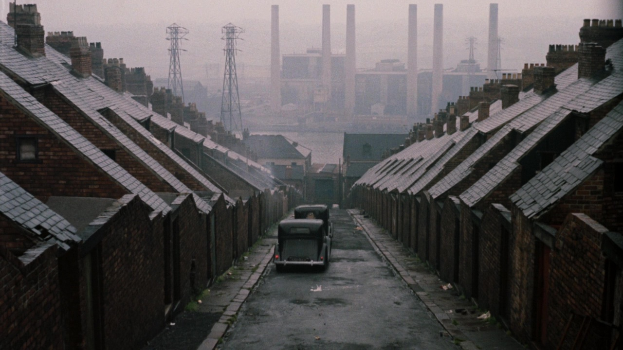 The back of Frank Street, the Dunston Power Station in the distance.
